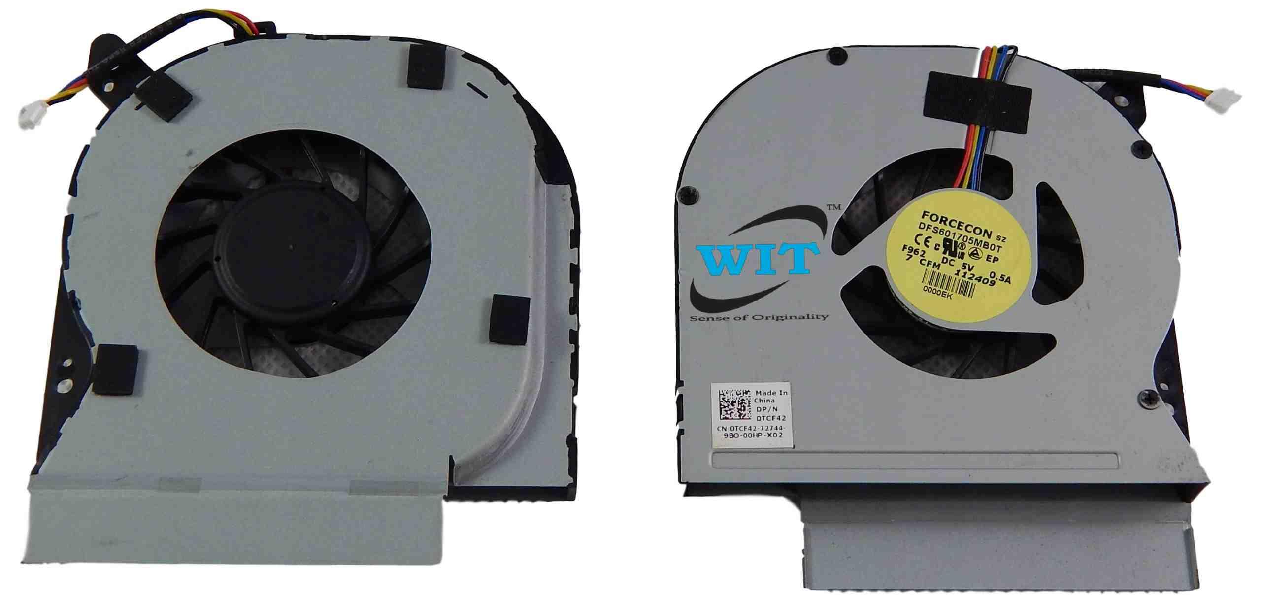Dell Latitude E6410 E6510 DC280007RVL Laptop/Notebook CPU Cooling Fan