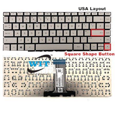 New For HP Pavilion x360 14-cd000 14m-cd000 14t-cd000 Keyboard Backlit Silver US