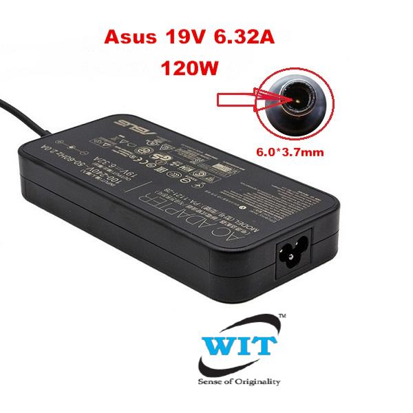 Original Genuine ASUS 19V 6.32A 120W AC Power Supply Charger adapter 6.0mm*3.7mm