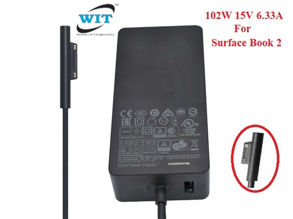 Surface Book 2 Charger 102W 6.33A Power Supply 1798 for Microsoft Surface Book